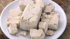 Portion of Yeast (seamless loopable, 4K) Stock Footage