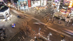 Time lapse traffic driving through entertainment district in Taipei, Taiwan Stock Footage