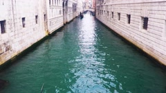 Gondolas in Saint Mark's square (San Marco) - stock footage