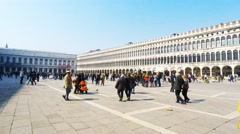 Time lapse of Saint Mark's square in Venice, Italy. Stock Footage