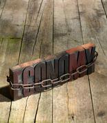 Blocks spelling economy in chains Stock Photos