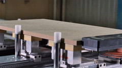 Timelapse of milling cutting wood machine. Fast forward of milling grooves - stock footage