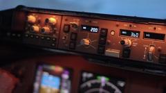 Airplane Controls Pan 2 - stock footage