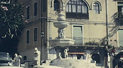 Taormina, Sicily 1975: people walking in the city Stock Footage