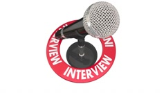 Interview Microphone Radio Podcast Guest Speaker Communication Stock Footage