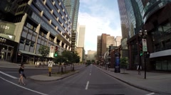 Montreal City Quebec Canada  view by car 5 Stock Footage