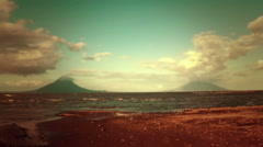 Concepcin and Madera: The side by side volcanoes of Nicaragua. Stock Footage