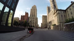 Montreal - Notre Dame street by car 2 Stock Footage