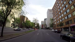 Montreal - Rene Levesque  street by car 2 Stock Footage