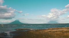 Twin volcanoes in Nicaragua. 4K. - stock footage