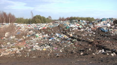 Panorama of a landfill site. Stock Footage