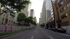 Montreal - Rene Levesque  street by car 4 Stock Footage