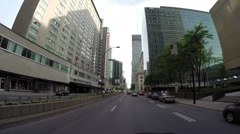 Montreal - Rene Levesque  street by car 5 Stock Footage