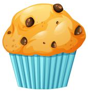 Muffin in blue cup Stock Illustration