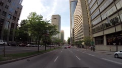 Montreal - Rene Levesque  street by car 6 Stock Footage