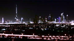 4K motion timelapse of beautiful towers in Dubai and surroundings. Stock Footage