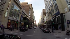 Montreal - st catherine  street by car 2 Stock Footage