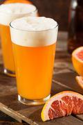 Sour Grapefruit Craft Beer Stock Photos