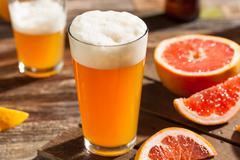 Sour Grapefruit Craft Beer - stock photo