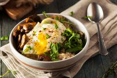 Healthy Homemade Savory Oatmeal - stock photo