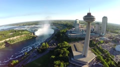 Aerial Niagara - afternoon 2. Canada Stock Footage