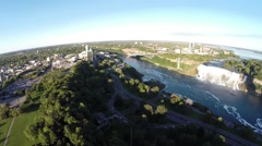 Aerial Niagara - afternoon 12. Canada Stock Footage