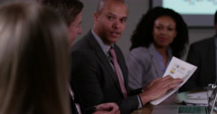 4k, shot of a group of multi-ethnic business people in a meeting. Stock Footage