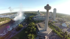 Aerial Niagara - afternoon 9. Canada Stock Footage