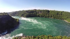 Aerial Niagara - whirpool 1 Canada Stock Footage