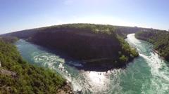 Aerial Niagara - whirpool 2. Canada Stock Footage