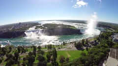 Aerial 4 Niagara  falls Canada.  Stock Footage