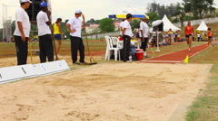 Long Jump. Women competition Stock Footage