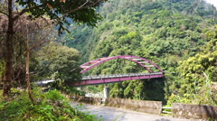 Muku Mugi River Valley National park of Taiwan locate near Taroko Gorge, Hualien Stock Footage