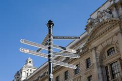 Signpost in Westminster, London, UK - stock photo