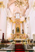Stock Photo of Altar and Interior Cathedral of Saint Virgin Mary in Minsk, Bela