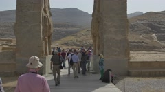 Persepolis gate of nations Stock Footage