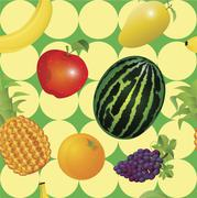 Fruit background - stock illustration