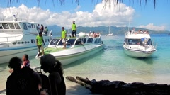 The arrival of tourists to Gili Air Island,Indonesia Stock Footage