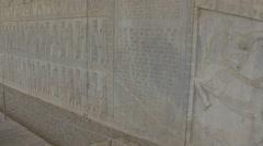 Persepolis relief wall Stock Footage