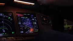 Airplane Controls Stable Shot 10 - stock footage