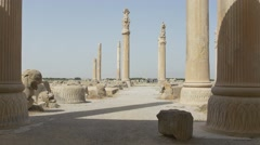 Stone ruins of the Persepolis Stock Footage