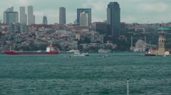 Bosphorus Pan Shot 1 Stock Footage