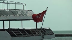 Bosphorus Turksih Flag 1 Stock Footage