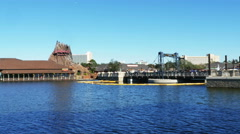 Orlando FL - Jan. 2016 Rainforest Cafe and Lake at Disney Springs Stock Footage