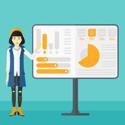 Stock Illustration of Woman presenting report