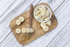 Sliced Bananas - stock photo