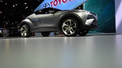 Toyota car in show event Stock Footage