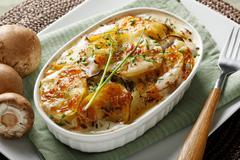 Close up of potato casserole - stock photo