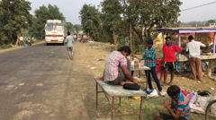 Informal street vendors - India Stock Footage