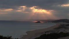 Karpaz peninsula, Northern Cyprus - golden beach and sunset, static - stock footage